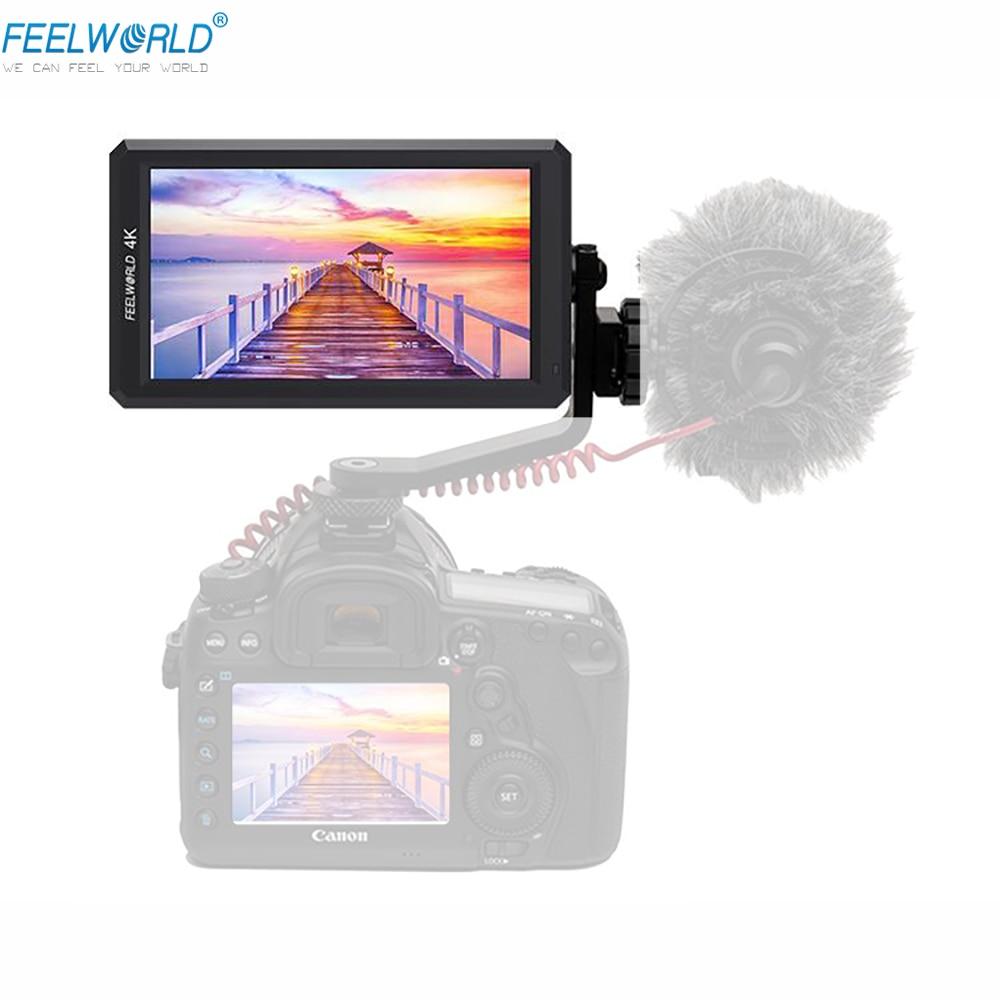 Feelworld fw-4 k Monitor Terbaru F6 5.7 ''IPS 4 K HDMI di Ingresso Penuh HD sulla Macchina Fotografica per Canon Monitor Nikon sony Video DSLR di Monitoraggio