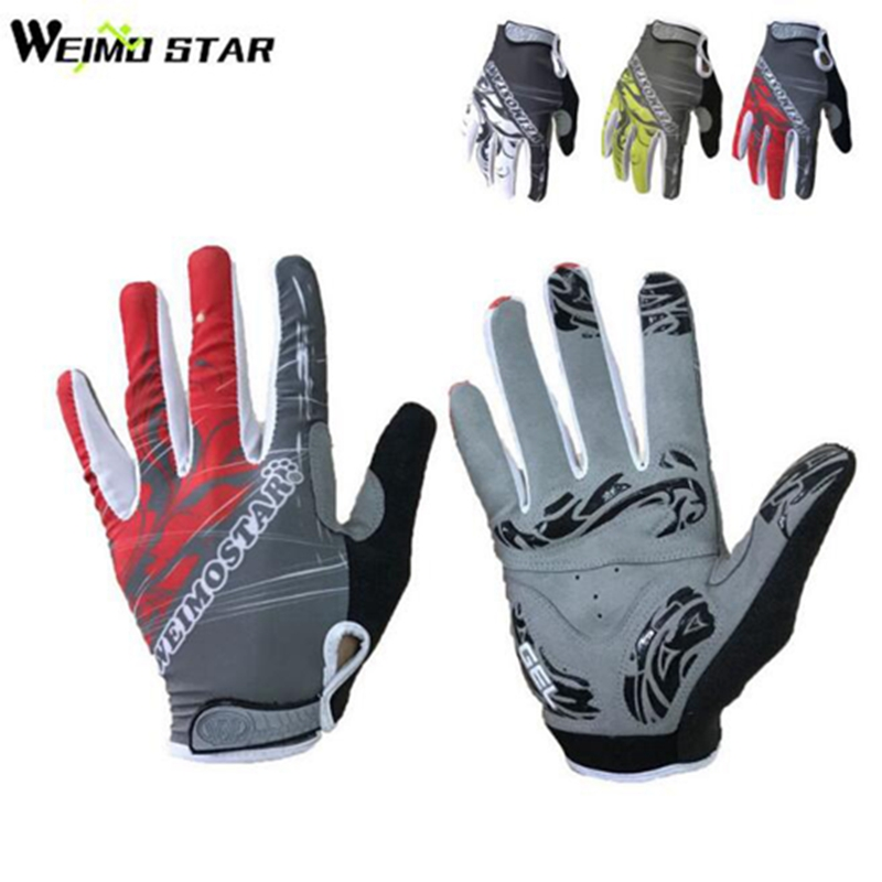 Weimostar Gel full finger touch screen cycling gloves autumn road mtb mountain bike bicycle sport gloves breathable equipment