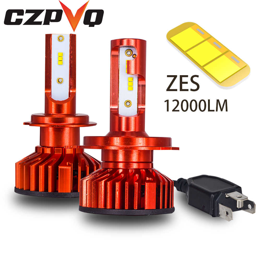 CZPVQ  car lights H4 H7 LED H1 H3 H8 H9 H11 9005 HB3 9006 HB4 880 881 H27 Auto Headlamp Fog Light 6000K 80W 12000LM EMC 12V 24V