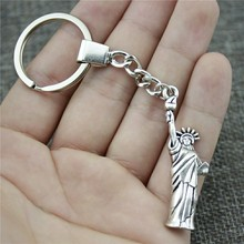 49x14mm Statue Of Liberty Keychain Men Jewelry New Fashion Party Gift Dropshipping Jewellery