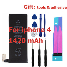 1420mAh 3.7V Li-ion Internal Battery Replacement for iPhone 4 4G With Repair Tools