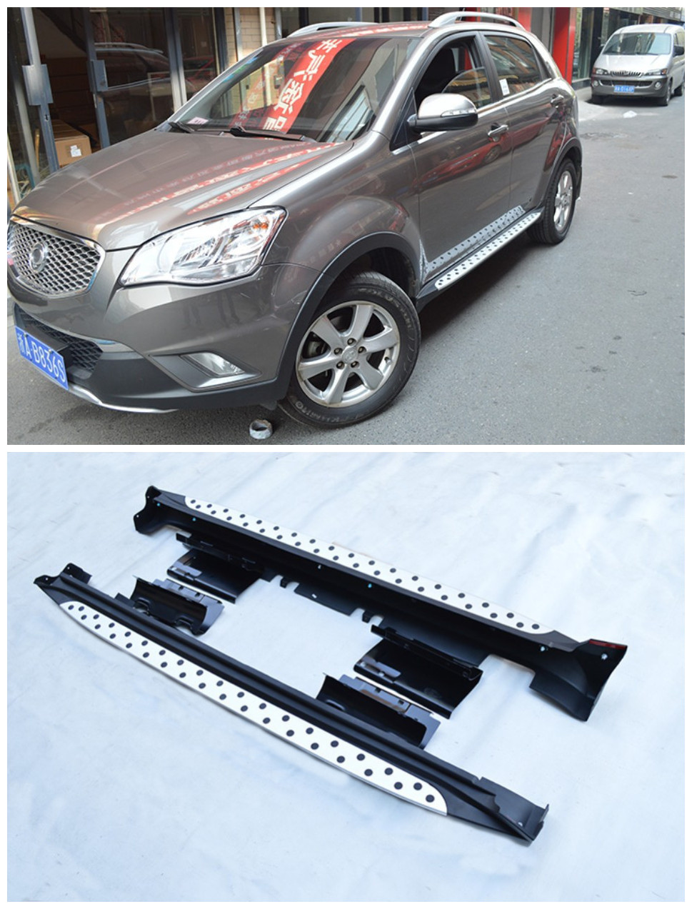 For Ssangyong Korando 2011 2012 2013 2014 Running Boards Side Step Bar Pedals High Quality Nerf Bars image