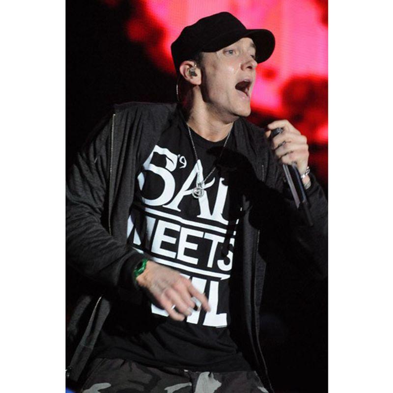 A40 1pc Hot Music The Best Eminem Rapper Grammy Titanium Steel Chain Rock Pop Necklace Shipping
