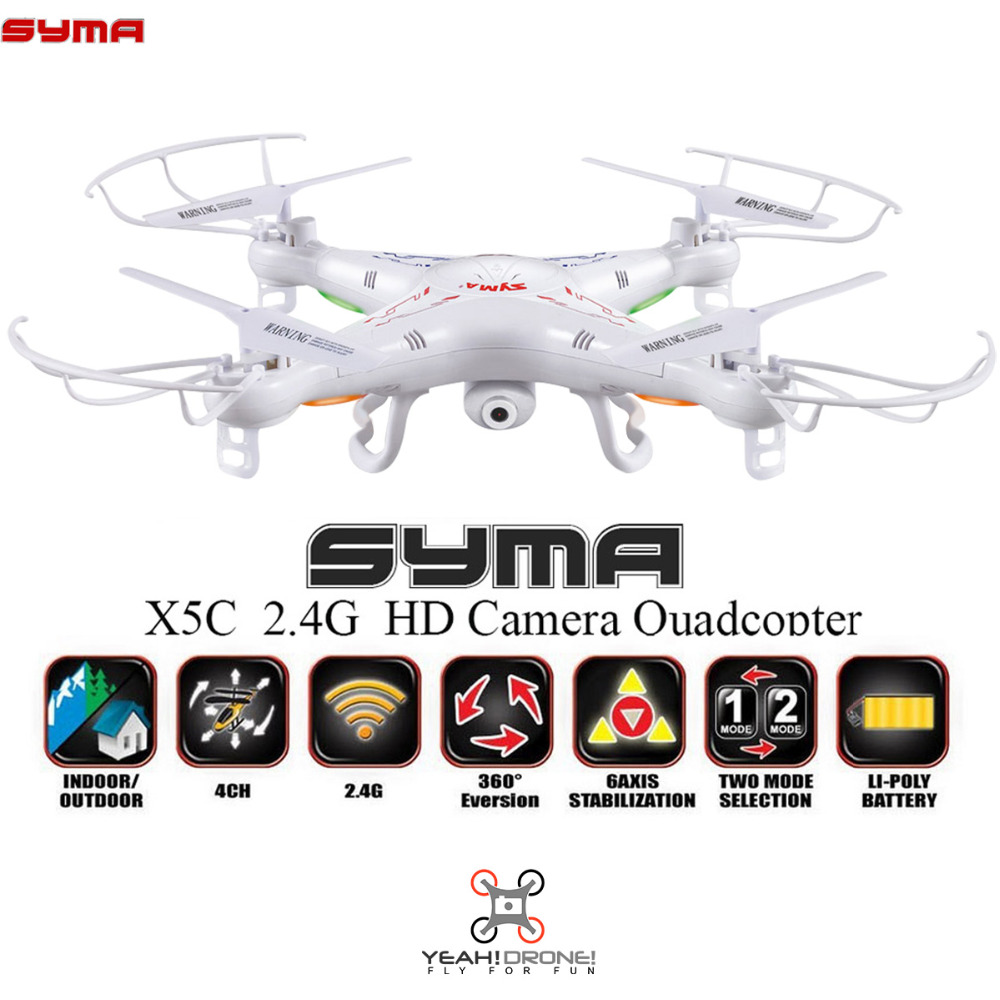 ФОТО Syma X5C Quadcopter 2.4G 6 Axis GYRO RC Helicopter Drone with Camera 2MP HD Camera Remote Control Toys RTF UAV UFO