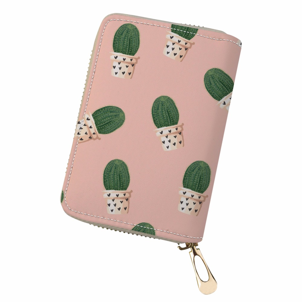 Customized 3D Real flowers Lovely cactus sexy flame rose PU Leather kaarthouder Cards Holder canta bag women pokemon ...