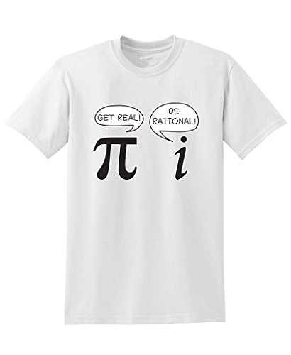 Cheap T Shirts Online Crew Neck Short Get Real Be Rational Pi Funny Math Geek Sarcastic Adult Novelty Printing Mens Shirt