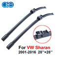 OGE Wipers For VW Sharan 2001-2016, 28''+28'' Rubber Bracketless Windscreen Blade  Promotion Car Accessories CPA118