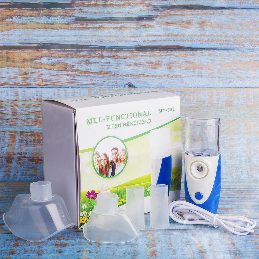 Image 5 - Mini Portable Ultrasonic Nebulizer Handheld Inhaler Respirator Humidifier Kit Health Care Children Home Inhaler Machine Atomizer-in Steaming Devices from Beauty & Health