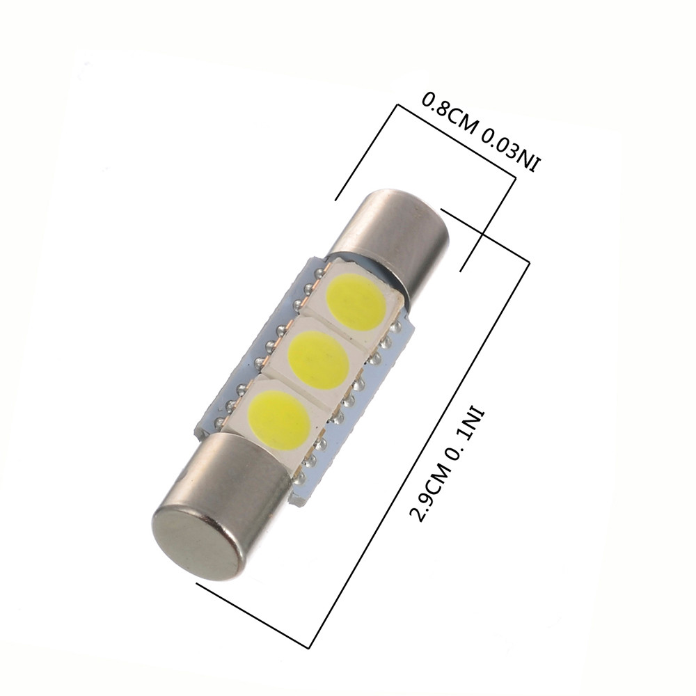 Popular Fuse Light Bulb-Buy Cheap Fuse Light Bulb lots from China ...:Car Light 10PC White LED 29mm-31mm 5050 3SMD Fuse Vanity Mirror Light Bulb  Lamp,Lighting