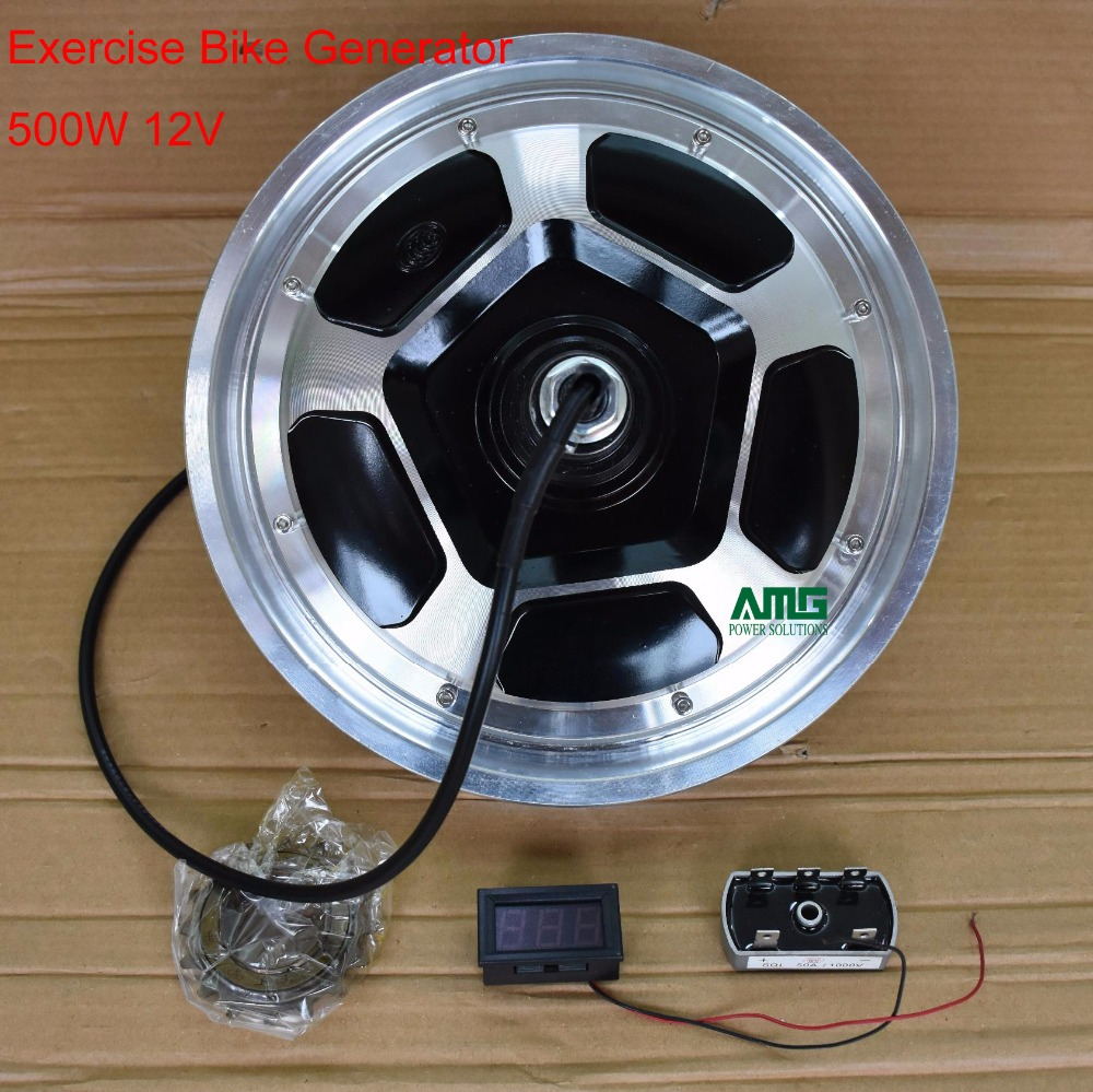 500W 12V/24V/48V/220V rare earth brushless permanent magnet ac generator with groove for DIY stationary excercise bike500W 12V/24V/48V/220V rare earth brushless permanent magnet ac generator with groove for DIY stationary excercise bike