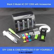 Элегантный Полный Черный чернильный бак с аксессуарами для DIY СНПЧ, особенно для картриджей с printerhead