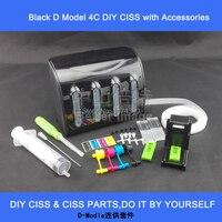 Zarif tam siyah mürekkep tankı ile aksesuarları DIY CISS için, özellikle printerhead ile kartuşları için