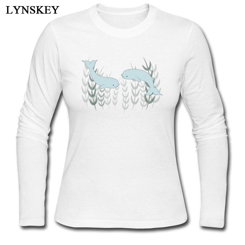 ינסקי רגיל ייחודי סתיו חולצות Crew Neck חולצות כותנה טהורה בלוגה רגיל אהבת טי חולצות שרוול ארוך חולצה למעלה איכות