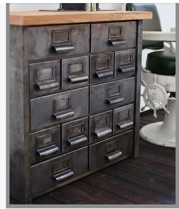 American Industrial Retro Cupboard Tiegui Corner Cabinets, Wrought Iron  Chest Of Drawers Sideboard Lockers