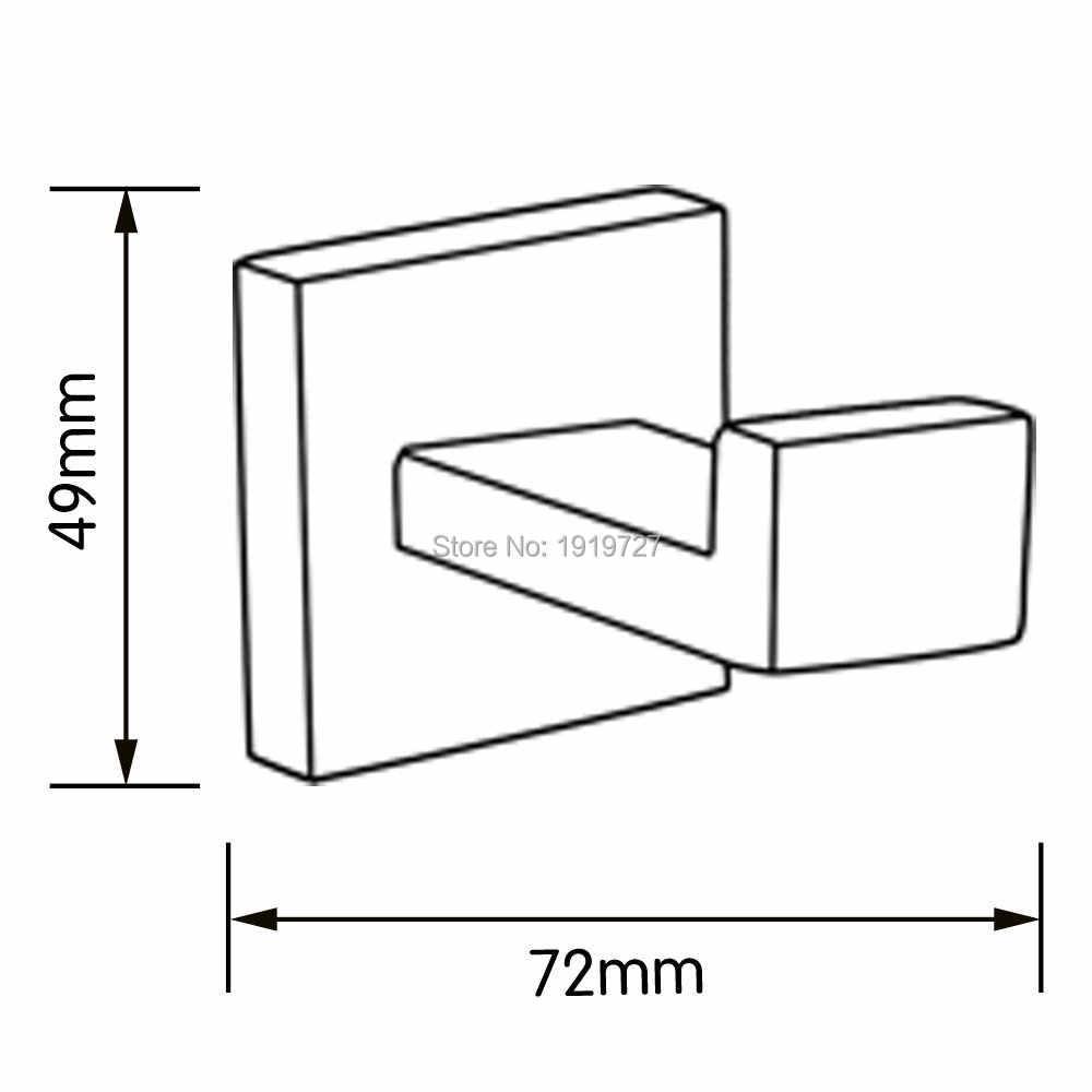 Bagnolux Edelstahl 304 Badezimmer Zubehör Set Einzigen Handtuch Bar Robe Haken Wc Papier Halter Handtuch Ring Poliert Finish