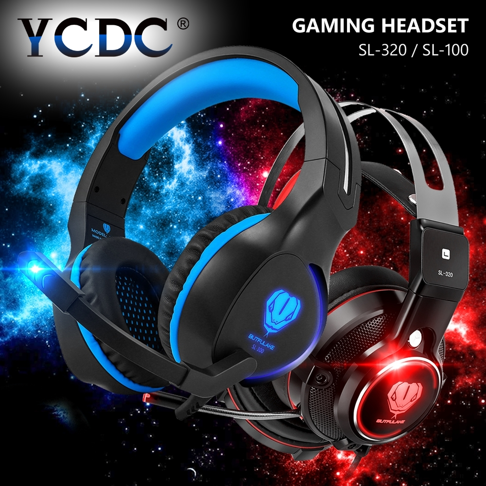 Cheap 1PC LED Earphones And Headphone With Mic Support Pro Gaming Headset For iPhone MP3 Laptop PS4 PC