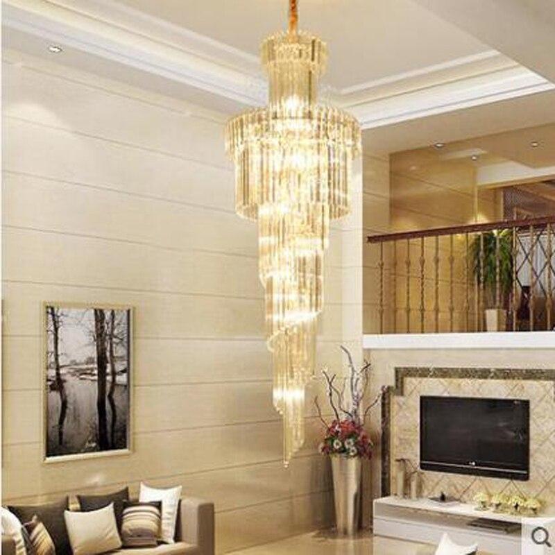 Grand Villa By Wood Mode: Duplex Grand Chandelier Luxury Villa Staircase Chandelier