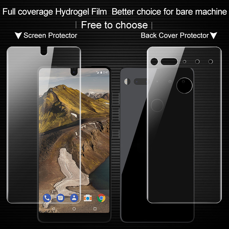 Full coverage for Essential Phone PH 1 Full Screen protector and Back cover protector Imak All Standing Hydrogel2 full body Film|Phone Screen Protectors|Cellphones & Telecommunications - title=