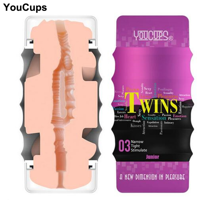 YouCups Dual channel masturbation cup Adult sex toys for men Realistic vagina & anal Male Masturbator for man Sex machine Sextoy evo 3d artificial vagina male masturbator adult sex products gasbag strong sucker vibrating masturbation cup sex toys for men