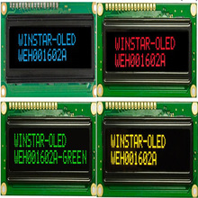WEH001602A 16x2 COB OLED Character Display 5V WS0010 Controller Scandinavian European Cyrillic Russian font spi parallel port