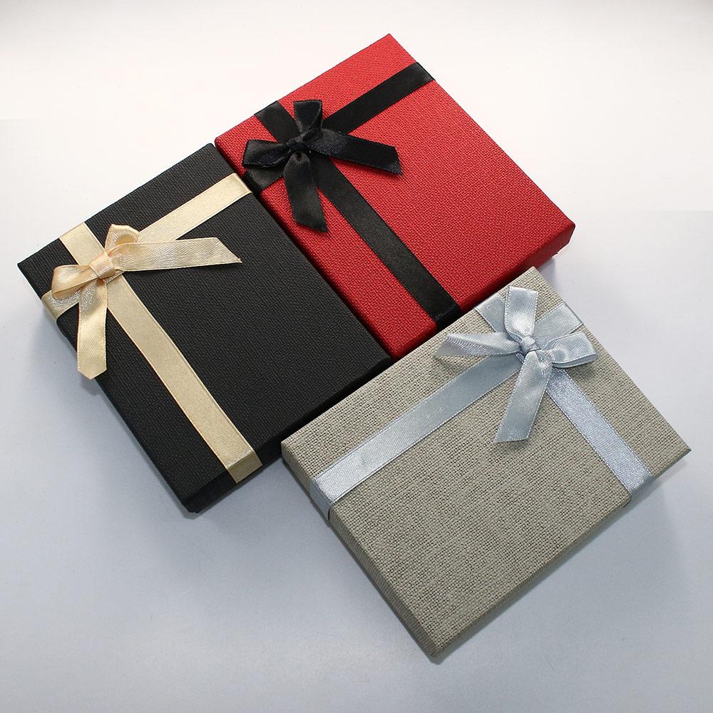 24 Pcs/lot mix colors Christmas gifts jewelry boxes Cardboard Jewelry Set Box necklace bracelet storage box bowknot boite bijoux