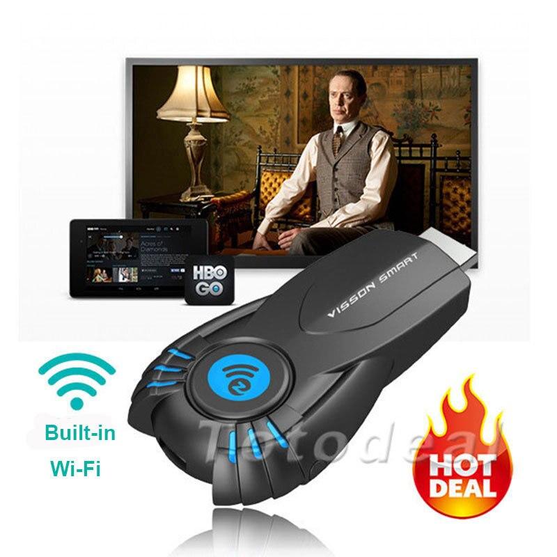 Free Shipping External Wifi Wireless HD 1080p ezChromecast Digital HDMI Streaming Media Player Chrome Cast V5II TV Receiver Box