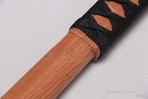 Image 4 - Épée en bois de 100cm/ 39.37 pouces, pour Cosplay, pour pratiques décoratives, avec gaine en PU, flambant neuf