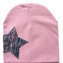 La manera superior de impresión estrella Beanie para niños niñas algodón  Knit sombrero niños invierno sombreros 09d6c3ba542