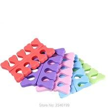 200 шт./партия, 100 пар деператоров для пальцев, губка для ног, мягкие гелевые инструменты для дизайна ногтей, цветной маникюр, инструмент для дизайна ногтей