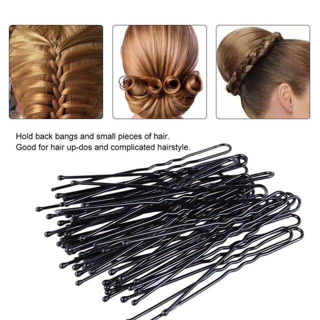 300Pcs Black Invisible Hair Clips Bobby Pins U Shape Black