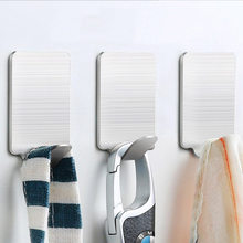 Basupply 8Pcs/lot Stainless Steel Towel Bathroom Hook Kitchenware Hook Hat Bag Key Rack Adhesive Wall Hanger Kitchen Accessories(China)