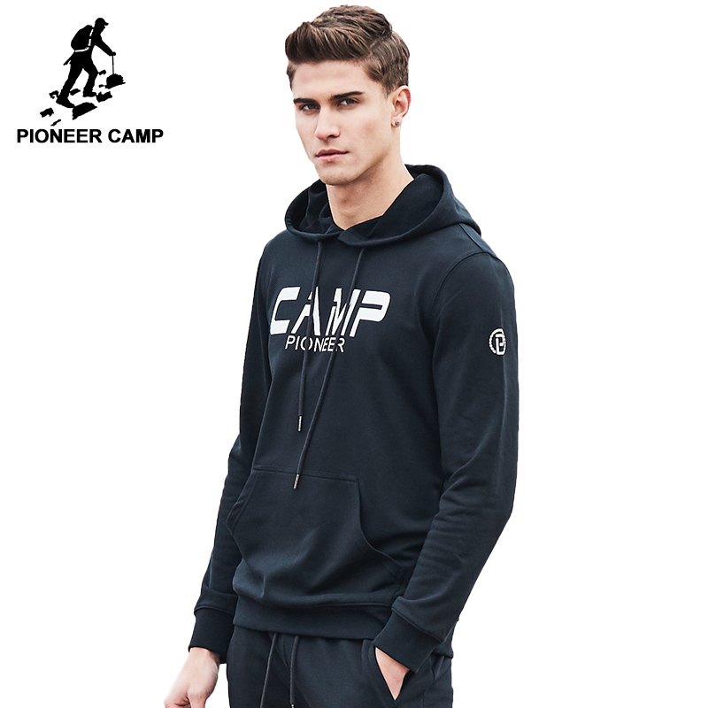 Pioneer Camp brand clothing hoodie sweatshirt men top quality casual hoodies men printed hooded tracksuit male AWY702047