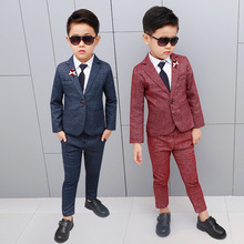 Flowers Boys Formal Suit Wedding campus student Dress Gentleman Kids Wedding Chlidren Clothing H479 brand wedding suit for flower boys campus student formal dress gentleman kids blazer shirt pant bowtie 4pcs ceremony costumes
