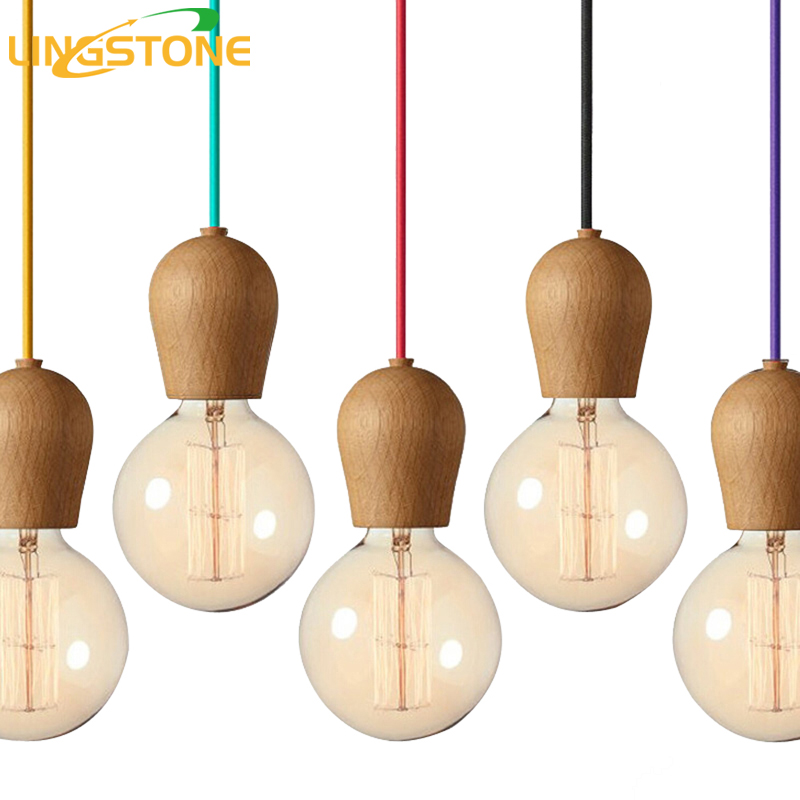 Modern Wood Pendant Lights Dining Room Cord Pendant Lamp Hanging Lighting Light Fixtures E27 Base Bedroom Suspension luminaire a1 master bedroom living room lamp crystal pendant lights dining room lamp european style dual use fashion pendant lamps