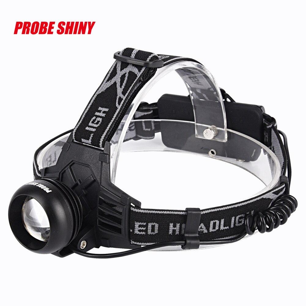 PROBE SHINY Cree XM-L T6 LED Rechargeable 18650 Headlamp Headlight Head Torch USB L61215 fishing DROP SHIP