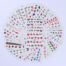 50pcs Water Transfer Designed Nail Sticker Blossom Flower Colorful Full Tips Stamp Decals Nail Art Beauty