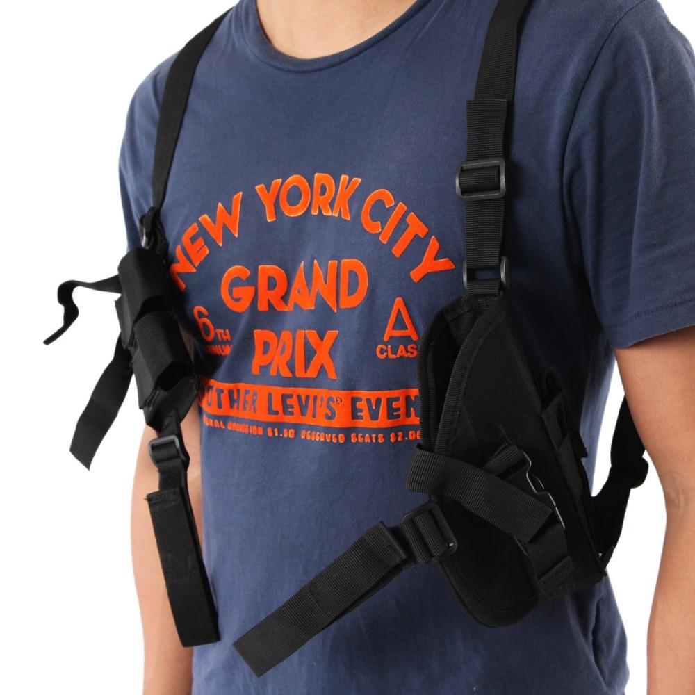 Free-Shipping-Nylon-Adjustable-Shoulder-Pistol-Gun-Holster-Magazine-Pouch-Black (1)