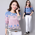 Sweaters Women's autumn and winter long-sleeved wool sweater round neck pullover sweater plus size 3xl Korean style warm tops