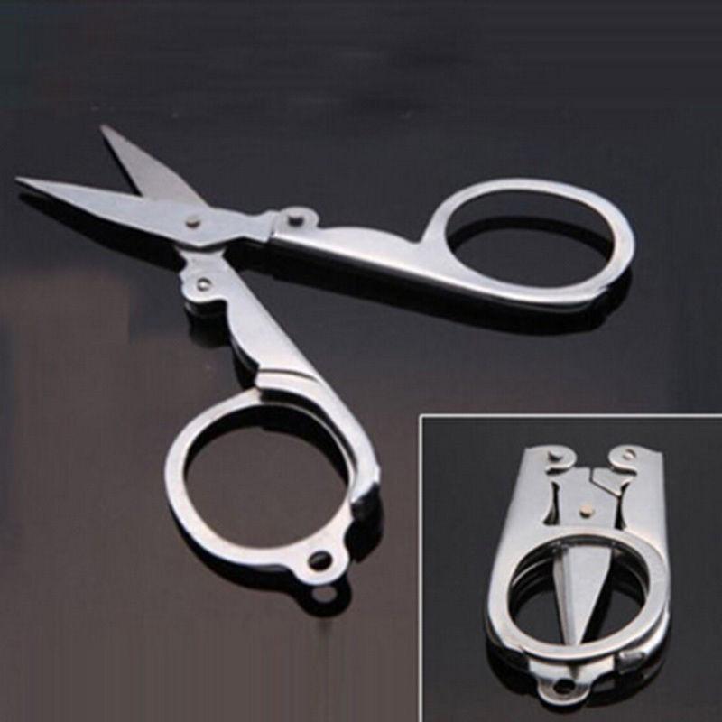 Hot Sale Titanium Steel Material Portable Mini Folding Scissors Pocket Travel Scissors Easy And Portable To Carry Suitable