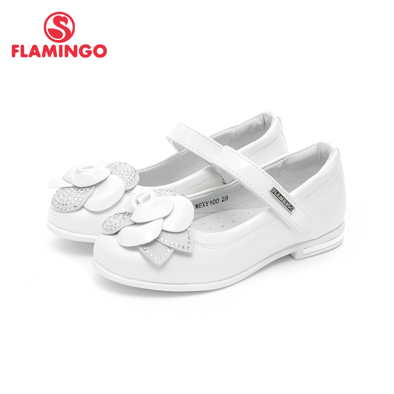 FLAMINGO Spring&Summer Hook&Loop Orthotic Arch Support Outdoor Size 26-30 Leather Insole Children School Shoes for Girl W6XY100 flamingo genuine leather insole breathable hook