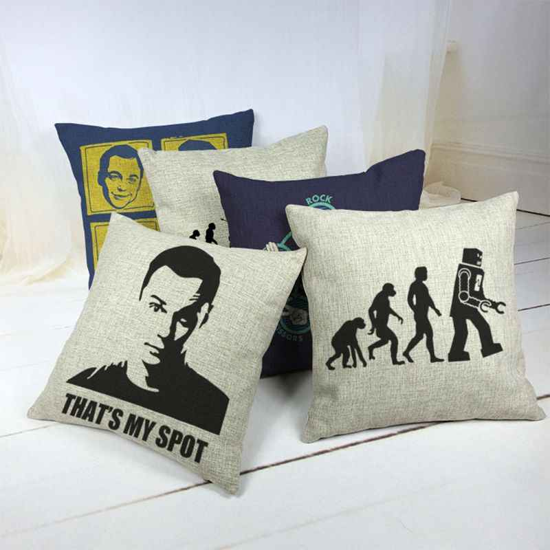 The Big Bang Theory Car Decorative Throw Pillow Case Cushion Cover Sofa Home Decor