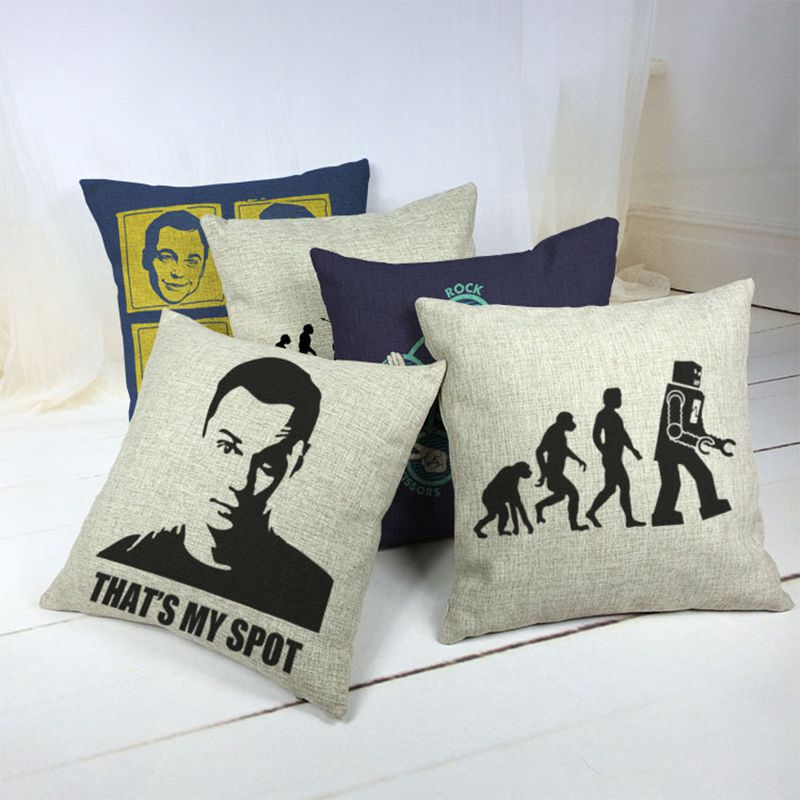 The Big Bang Theory Car Decorative Throw Pillow Case Cushion Cover Sofa Home Decor ...
