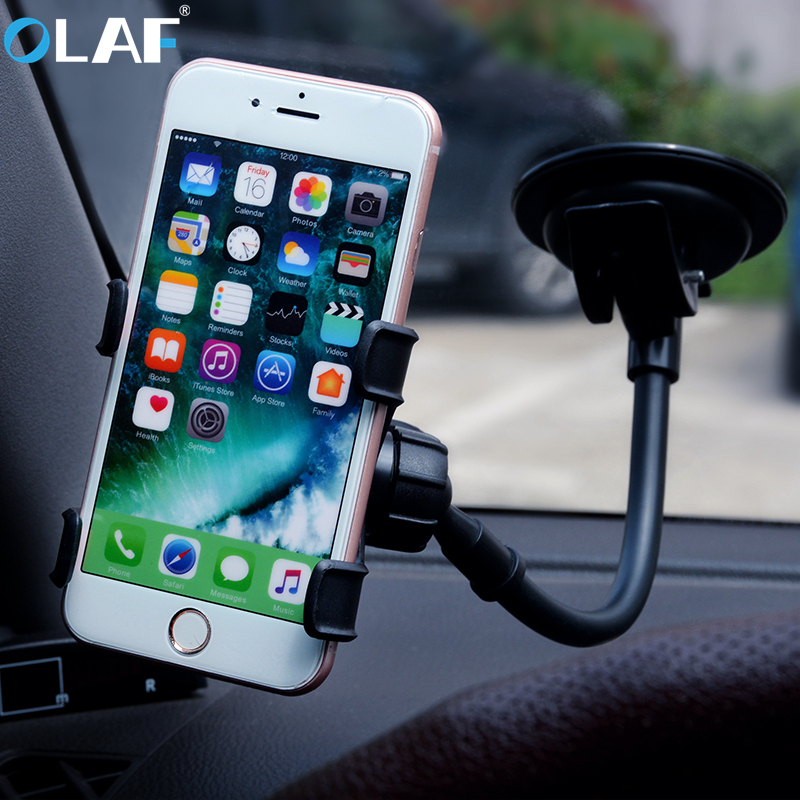 OLAF Universal Suction Cup Sucker Car Windshield Mount Phone Holder Stand Support For iphone 7 6 6s plus Samsung Xiaomi GPS
