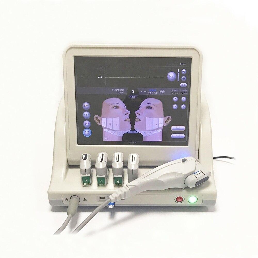 2019 livraison gratuite hifu machine de levage du visage et du corps 5 cartouches pour salon de beauté/nouveau portable hifu corps et visage
