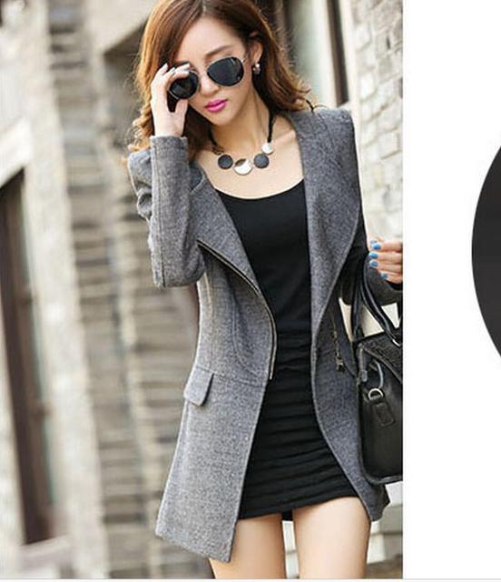 302862afad Misturas de lã de Outono e inverno nova jaqueta casaco de caxemira no longo  seção do