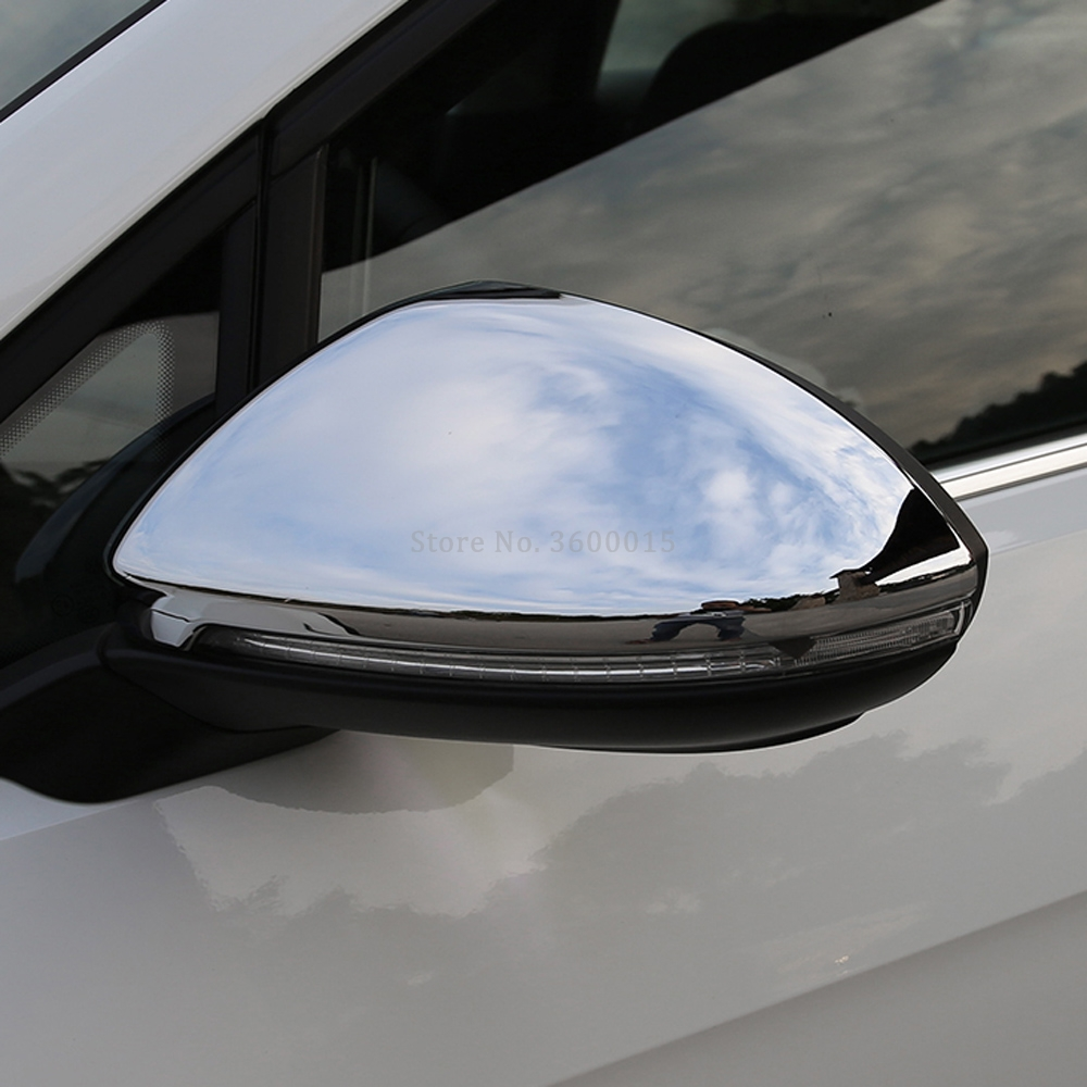 For Volkswagen Golf VII 7 MK7 For Golf 7 2013 2015 2016 2017 Accessories Side View Mirror Chrome Covers Trim Molding Car styling