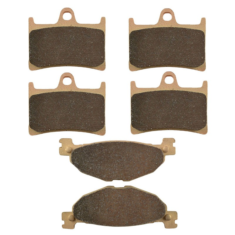 Motorcycle Front and Rear Brake Pads for YAMAHA STREET BIKES FJR 1300 FJR1300 N/P 2001-2002 Sintered Brake Disc Pad motorcycle front and rear brake pads for yamaha xvs 1300 ctw ctx v star 1300 tourer 2007 2010 black brake disc pad