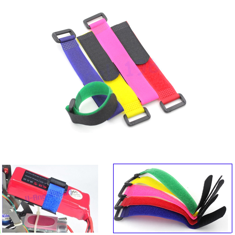 5 X Hook & Loop Fastening Tape For All RC Helicopter Five Color