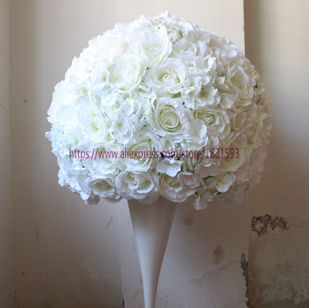 wedding road lead flower ball artificial flowers wedding table centerpiece decoration 2 3 round. Black Bedroom Furniture Sets. Home Design Ideas