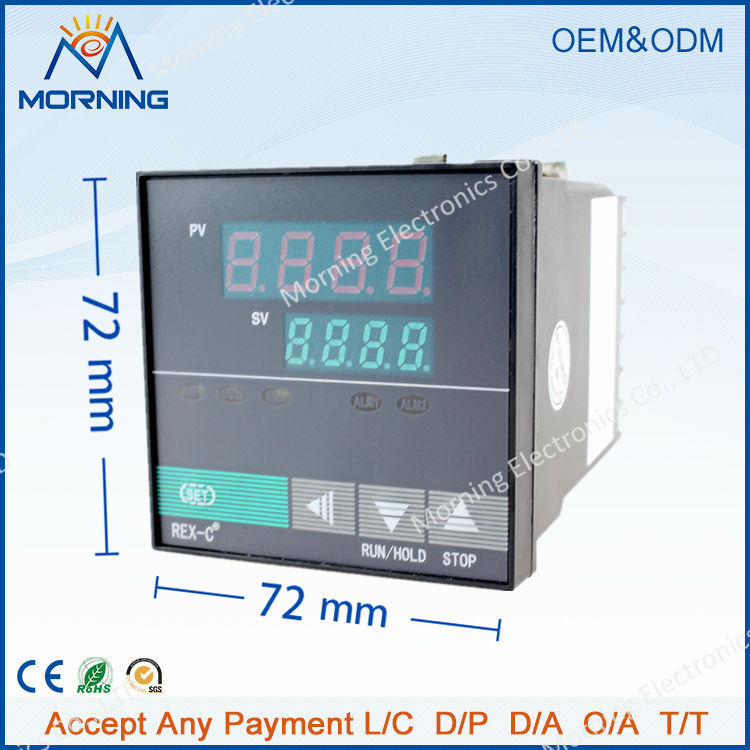XMTD7000P panel size 72*72mm LED digital temperature controller 32segments to run a heating